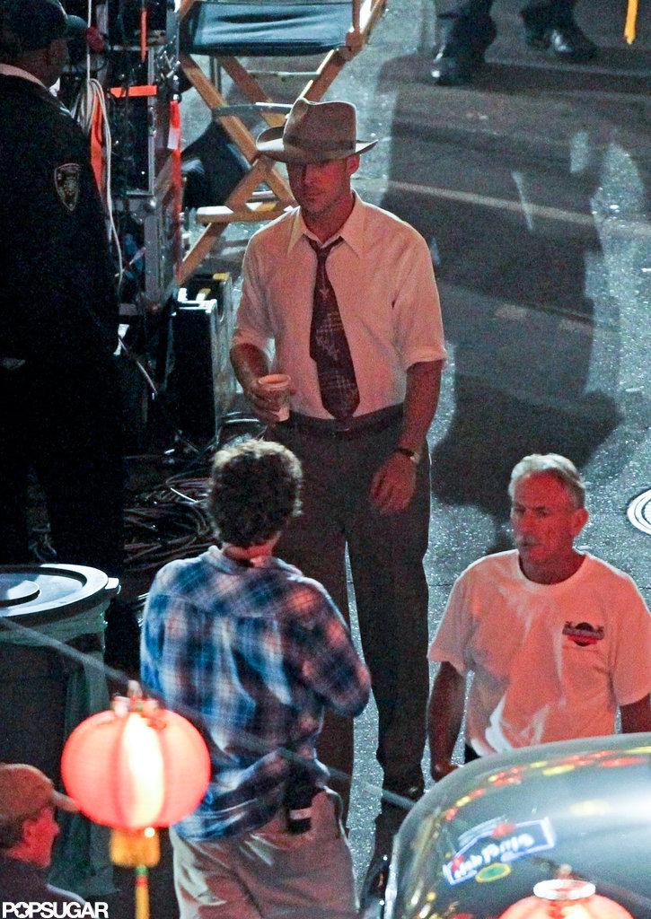 Ryan Gosling did Gangster Squad reshoots.