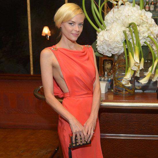 Jaime King Wearing Orange Dress