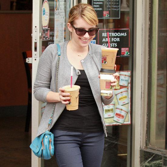Emma Roberts Blue Crossbody Bag