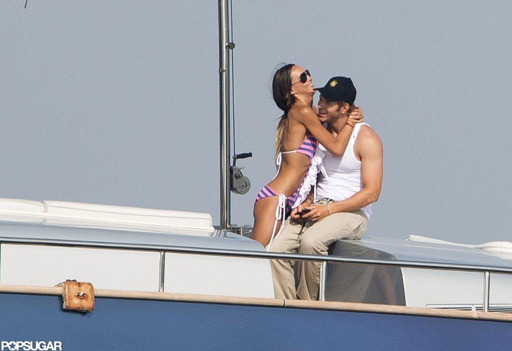 Kellan Lutz and girlfriend Sharni Vinson vacationed in Saint-Tropez in July 2012.