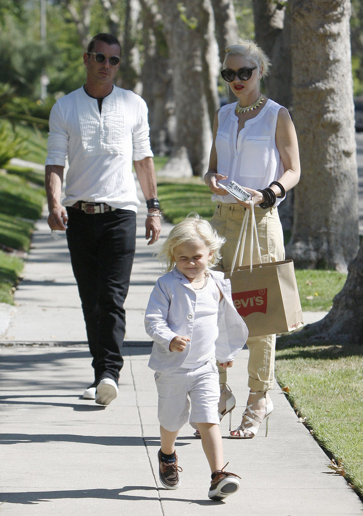 For Father's Day, Gavin Rossdale and Gwen Stefani's son Zuma sported an all-white outfit.