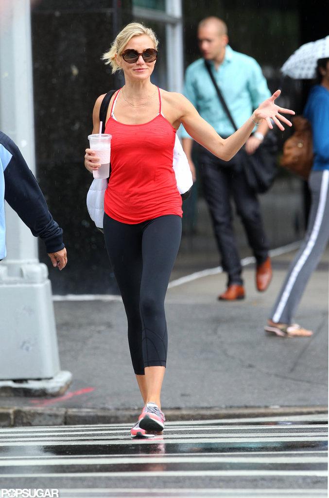 Cameron Diaz walked toward a gym in NYC.