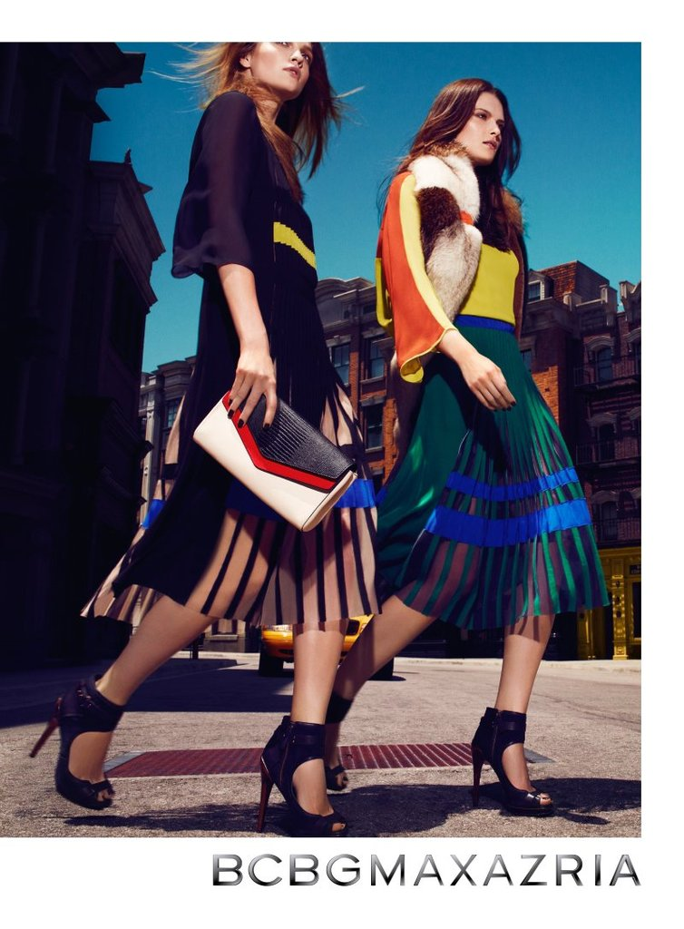We love these colorfully ladylike skirts from BCBG Max Azria.