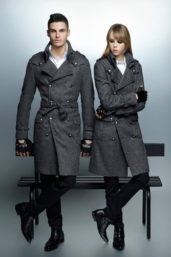 His and hers double-breasted coats via Karl Lagerfeld Fall 2012.