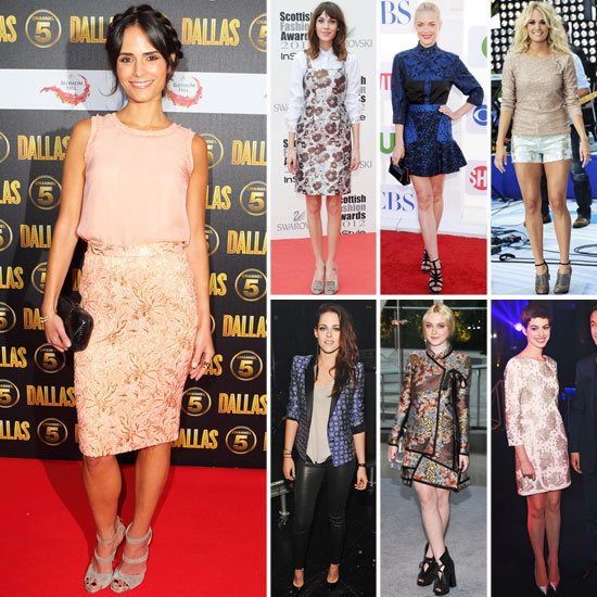 7 Days, 7 Ways: How Celebs Take on the Brocade Obsession