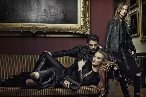 It's all about dark luxe pieces for Belstaff.