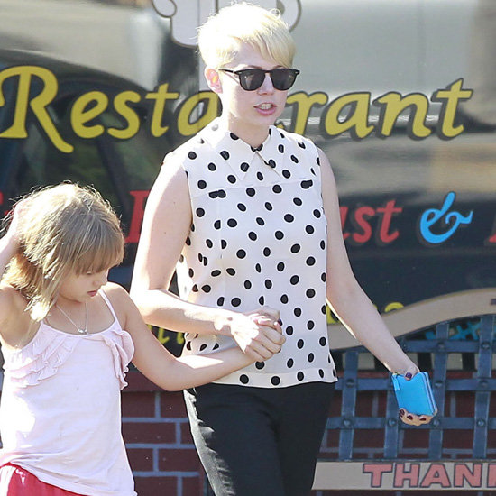 Michelle Williams Wearing Polka Dot Top