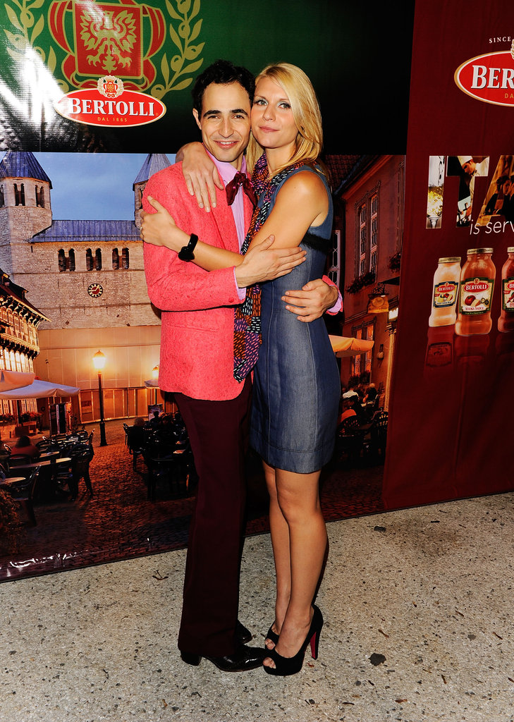 Claire Danes got close with designer Zac Posen during the Fashion Week festivities in September 2010.