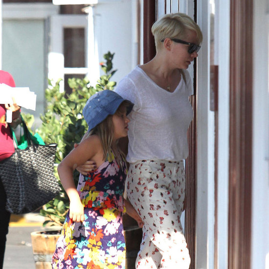 Michelle Williams and Matilda Ledger Wear Florals | Pictures