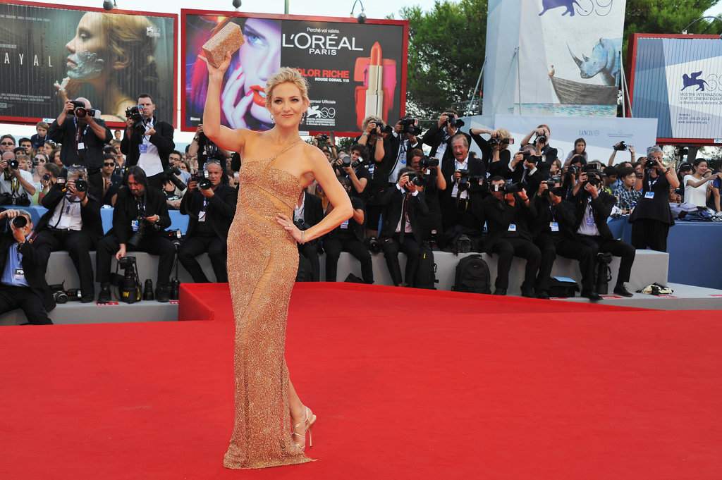 Kate Hudson waved to the Venice Film Festival crowd.