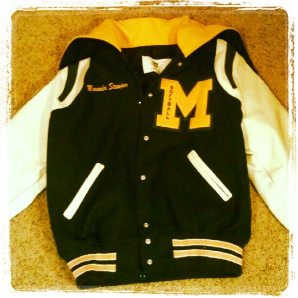 Sporting Our Letterman Jackets