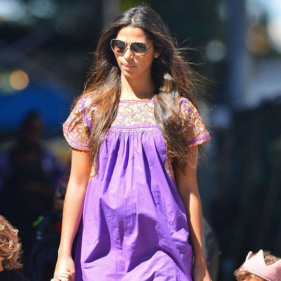 Camila Alves Wearing Purple Dress