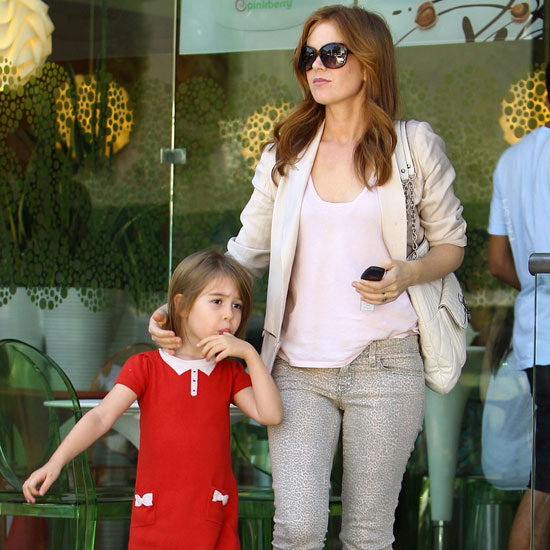 Isla Fisher Wearing Leopard Jeans