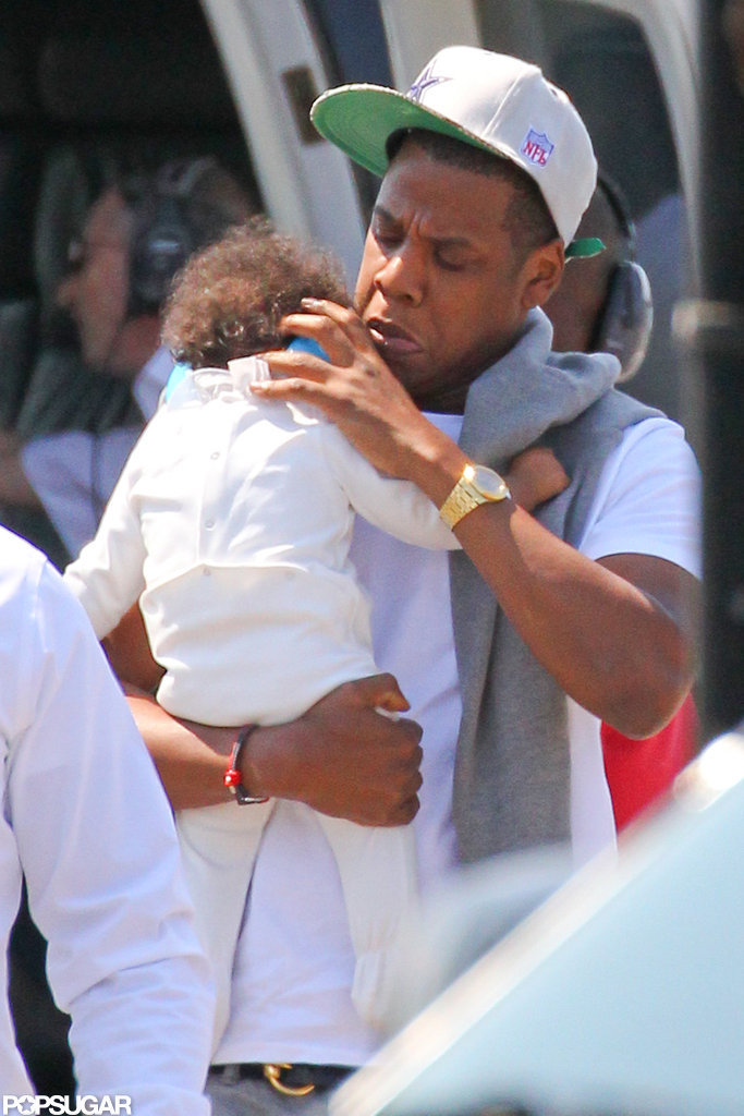 Jay-Z checked on his baby girl, Blue Carter.