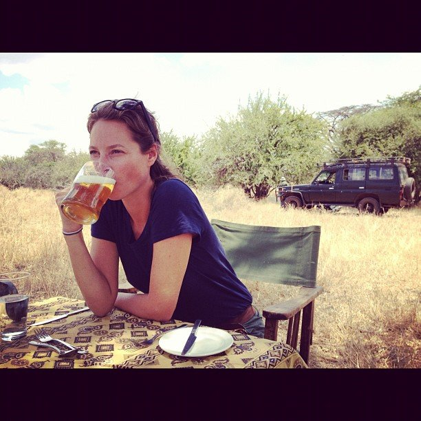 One of the original '90s supermodels, Christy Turlington, went on a safari. Source: Instagram user cturlington