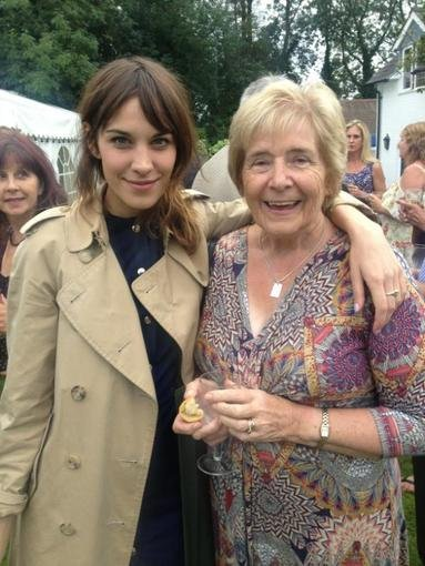 Alexa Chung met up with her first drama teacher.  Source: Twitter user alexa_chung