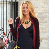 Blake Lively Is Ready For Fall in Printed Jeans and Suede Boots on Set