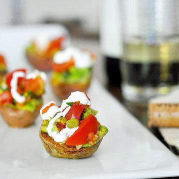 Mini Potatoes With Tomato-Avocado Salsa Recipe