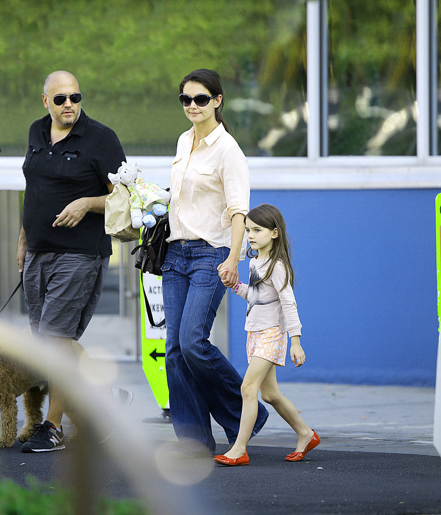 Katie Holmes and Suri Spend Their Sunday With Uncle Martin and a Furry Friend