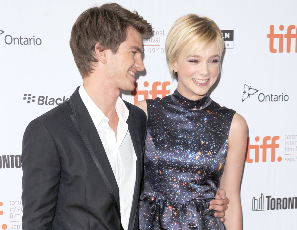 Carey Mulligan and Andrew Garfield were all smiles at the 2010 premiere of their dramatic film Never Let Me Go.