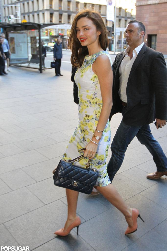 Miranda Kerr Struts Through Sydney in Fresh Florals
