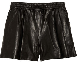 Maybe it's Fashion Week's arrival, but I'm feeling totally inspired by the cool-girl styling of Taylor Tomasi Hill. These would be my attempt to channel her tomboy-meets-the-trends take on fashion, outfitting these Phillip Lim Leather Shorts ($675), with a cozy pullover and high-tops. — Hannah Weil, associate editor