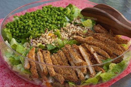 Crunchy Chick'n & Peas with Lime Citrus Vinaigrette