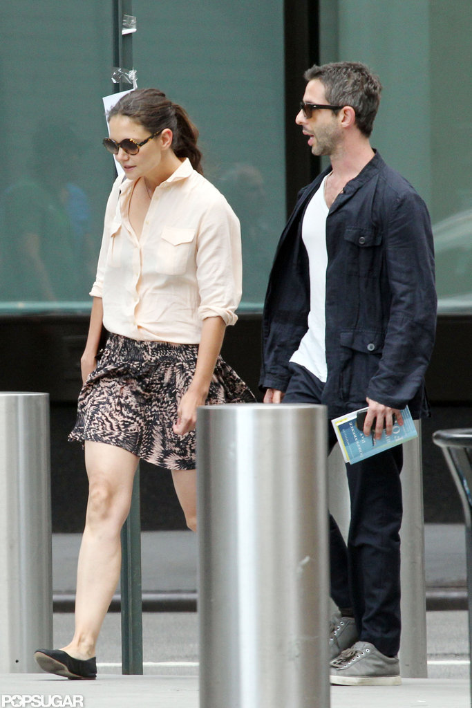 Katie Holmes and a new man were out in NYC.