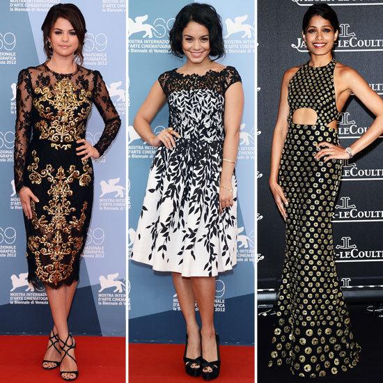 Selena Gomez, Vanessa Hudgens, Freida Pinto and more Celebrities on the Red Carpet at the 2012 Venice Film Festival,