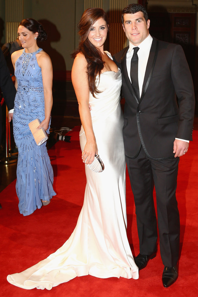 Michael and Simone Ennis on the red carpet at the 2012 Dally M Awards.