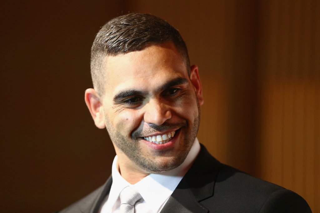 Greg Inglis chatted happily with waiting media at the 2012 Dally M Awards.