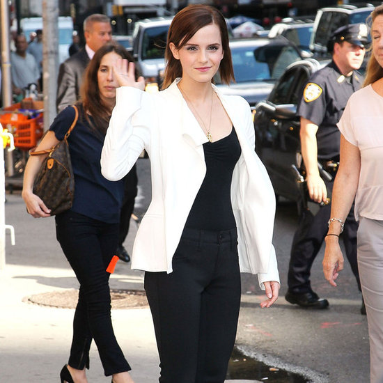 Emma Watson at The Late Show   Pictures