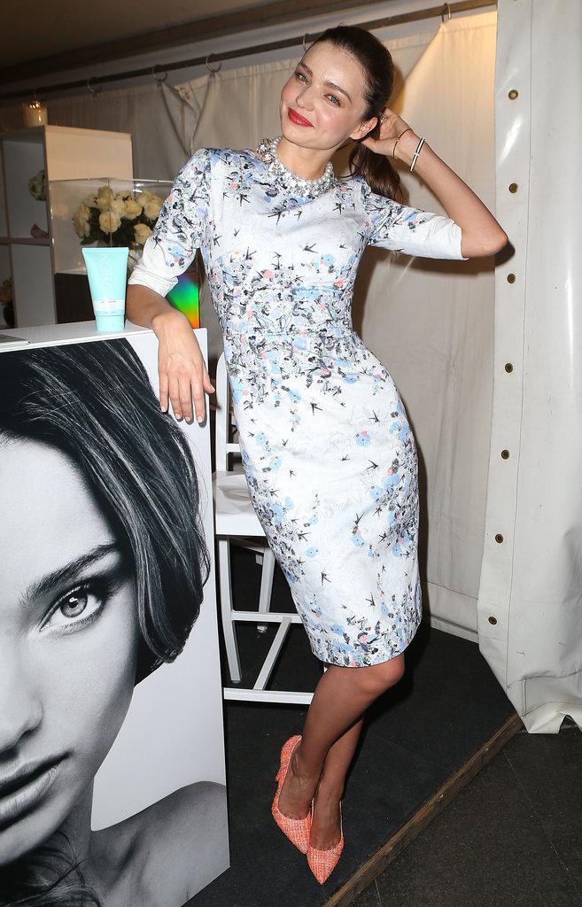 Miranda Kerr posed at a Kora Organics pop up store.