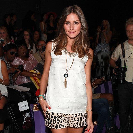 Olivia Palermo Wearing Leopard Shorts at NY Fashion Week
