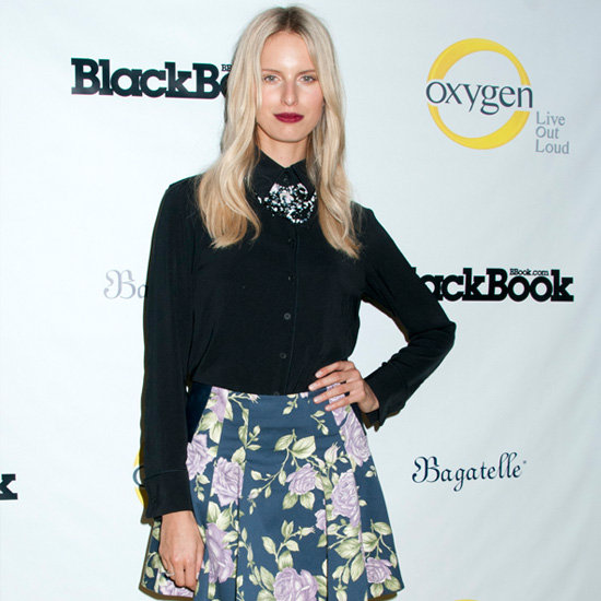 Karolina Kurkova Wearing a Floral Skirt