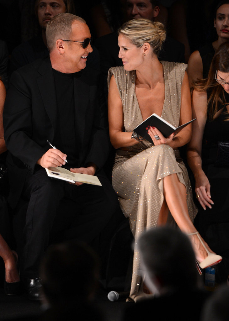 Heidi Klum and Michael Kors chatted in the front row.