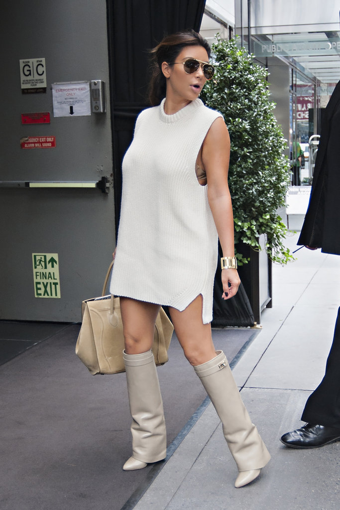 Kim Kardashian's Givenchy boots make us weak at the knees. So country and western, so chic.