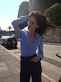 Nicole Trunfio stuck a pose for Madison magazine. Source: Twitter user madisonmag