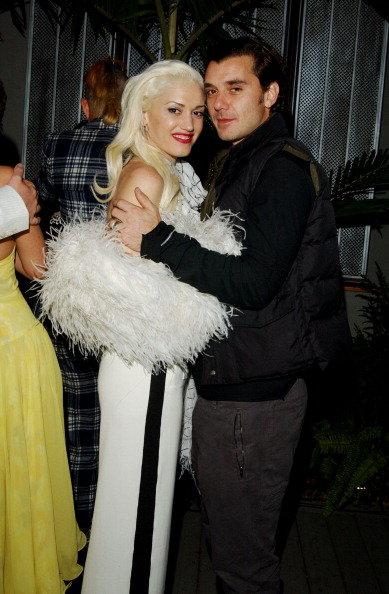 Gwen Stefani and Gavin Rossdale showed PDA at an LA Grammys bash in February 2004.