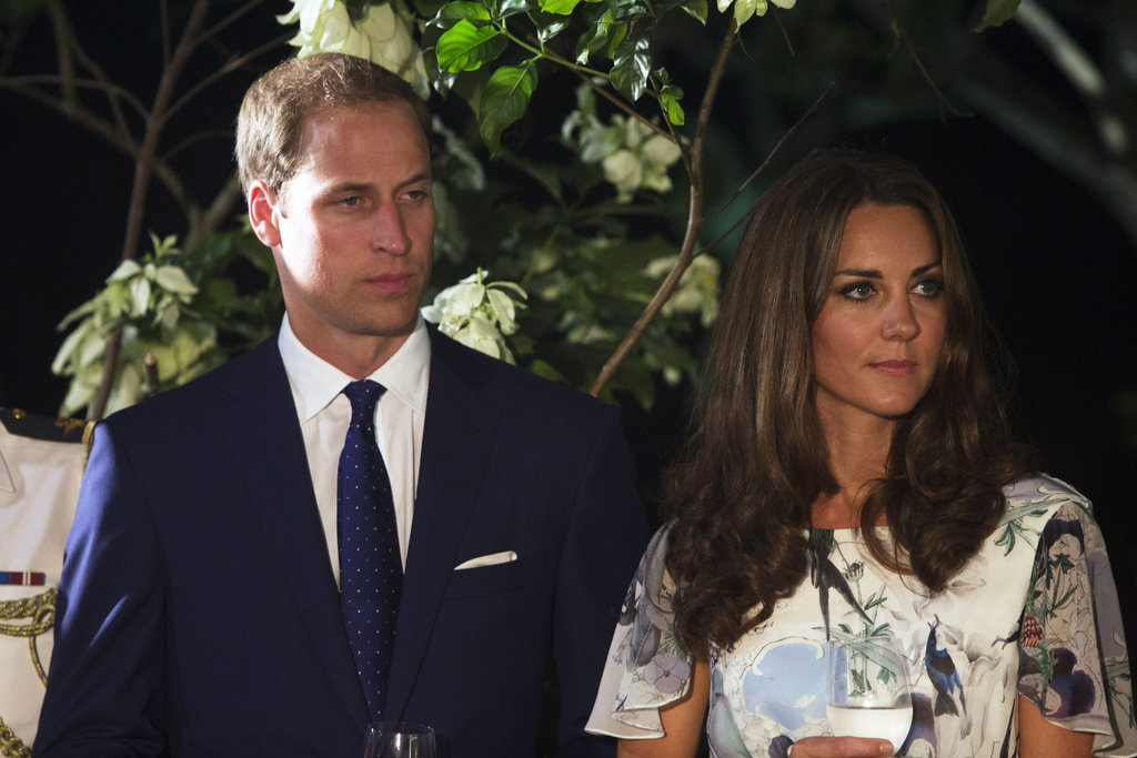 Prince William and Kate Middleton attended a dinner together in Singapore.