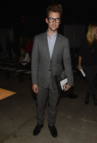 Brad Goreski brought a dapper look to Narciso Rodriguez's show.