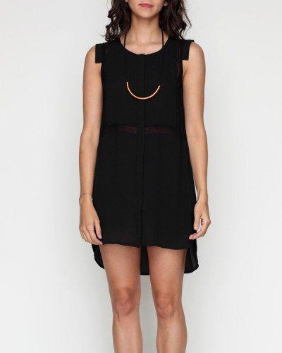 Astoria Shirt Dress in Black