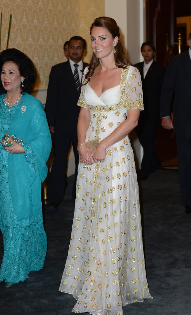 Kate Middleton looked stunning in an Alexander McQueen gown.