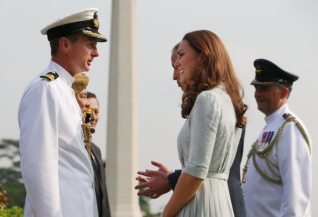 Kate Middleton and Prince William made a stop at the Kranji War Memorial in Singapore.