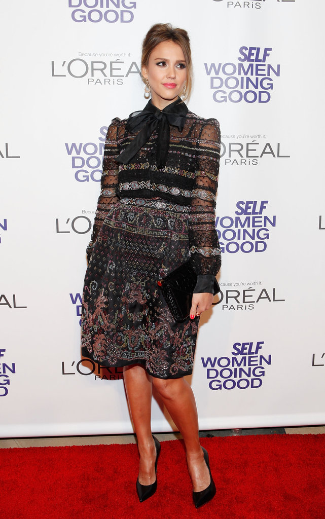 Jessica Alba received an honour at the Self magazine Women Doing Good Awards in NYC.
