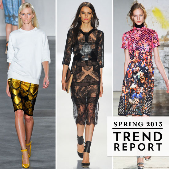 The Top Runway Trends from New York Fashion Week Spring 2013: Sporty, Sheer, Oversize, Monochrome & more: