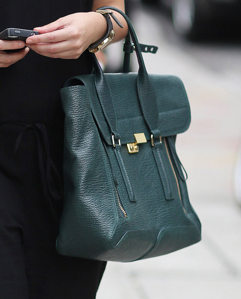 Behold, another Phillip Lim Pashli in a deep, gorgeous green. Source: Greg Kessler