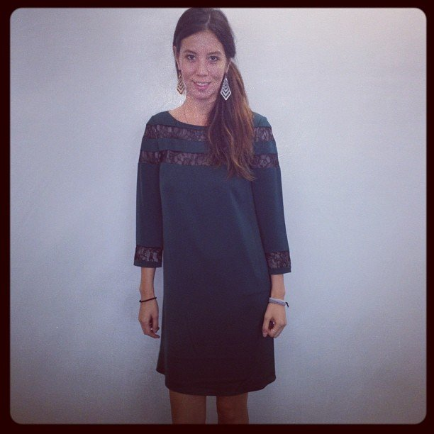 Associate editor Marisa Tom looked adorable running to shows in this Erin by Erin Featherston dress.