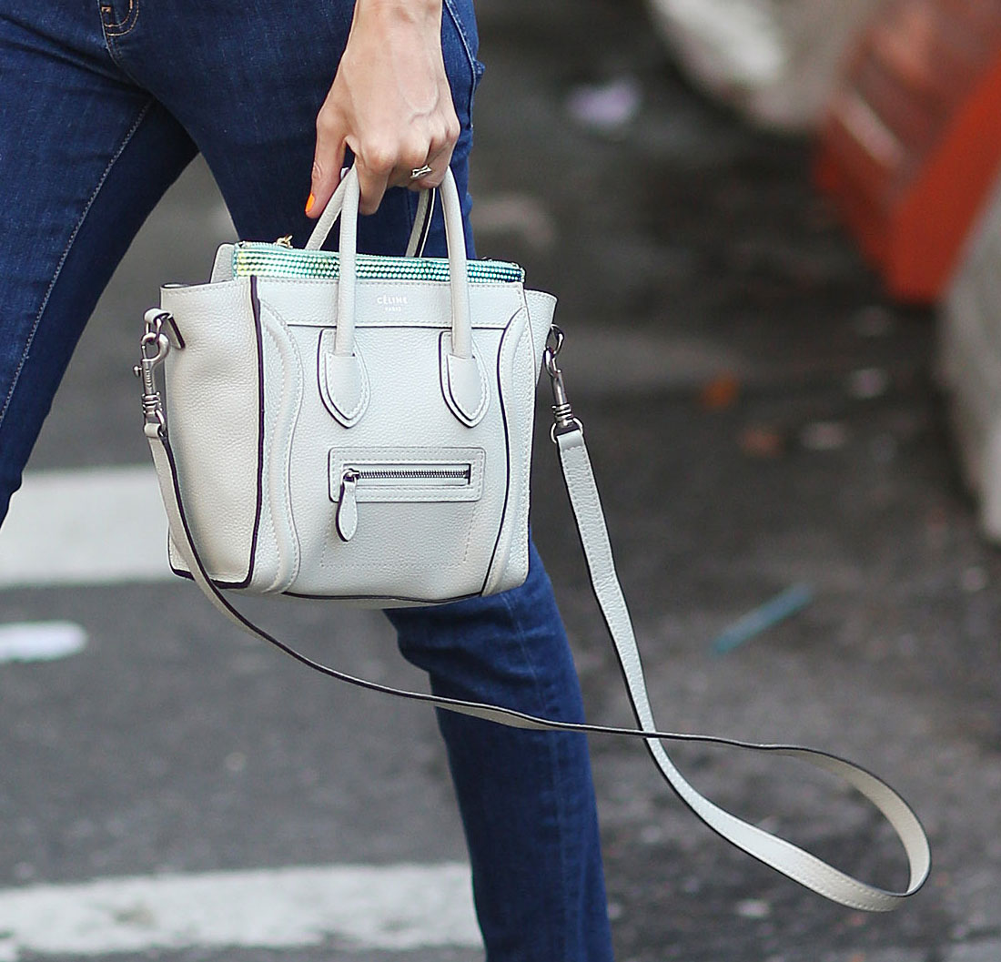 Taylor Tomasi Hill\u0026#39;s mini C¨¦line luggage tote was totally chic in ...