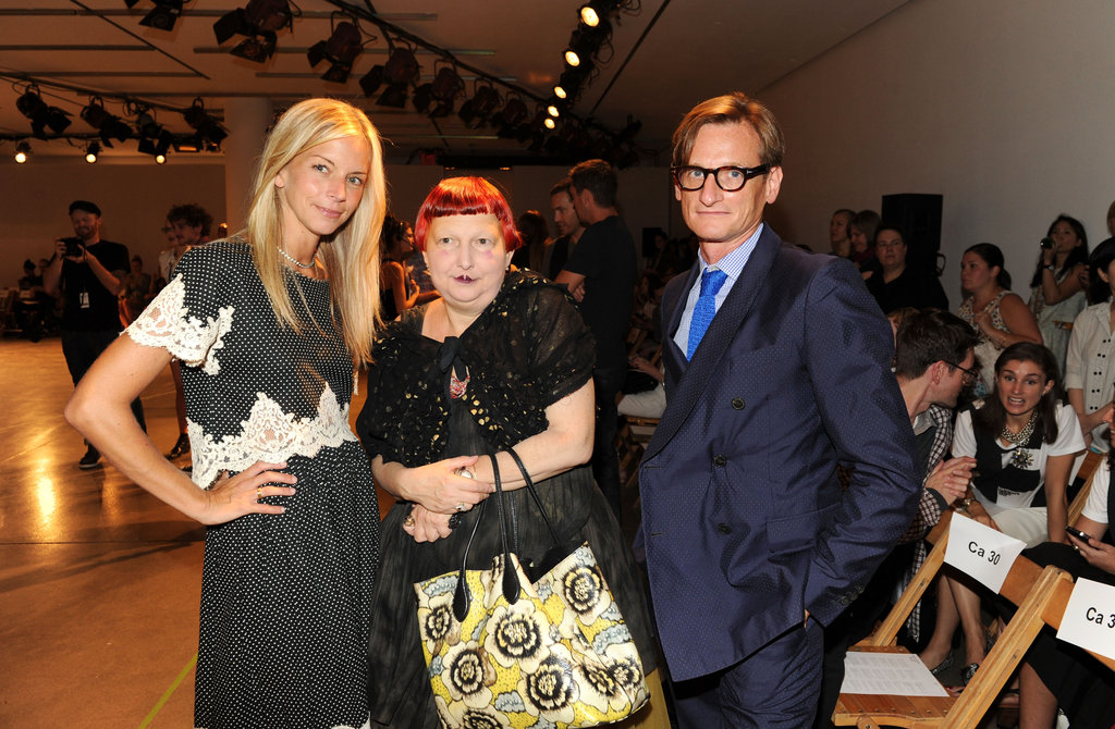 Meredith Melling Burke from US Vogue, Lynn Yaeger and Hamish Bowles